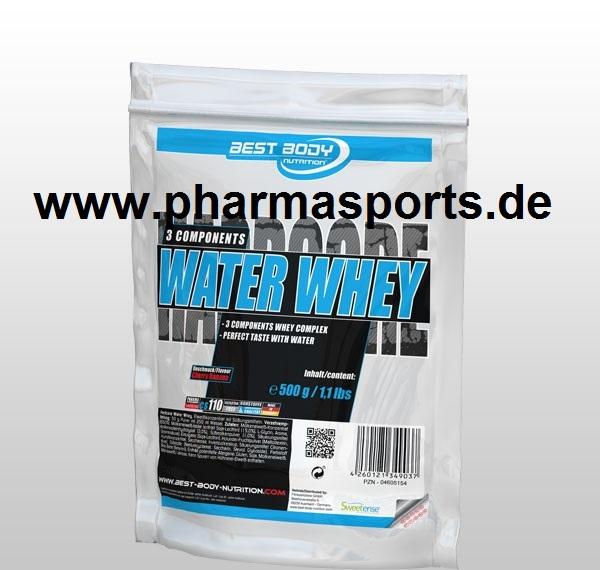 Best Body Nutrition Water Whey Protein im Angebot der Woche gibt es nun auch in White Chocolate und Cherry Banane.
