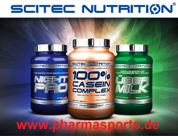 Casein Protein Sorten der Firma Scitec im Pharmasports Bodybuilding Shop