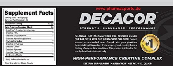 Decacor Creatine inhalt