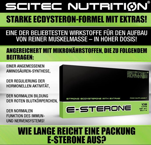 Scitec E-Sterone Ecdysteron Supplement