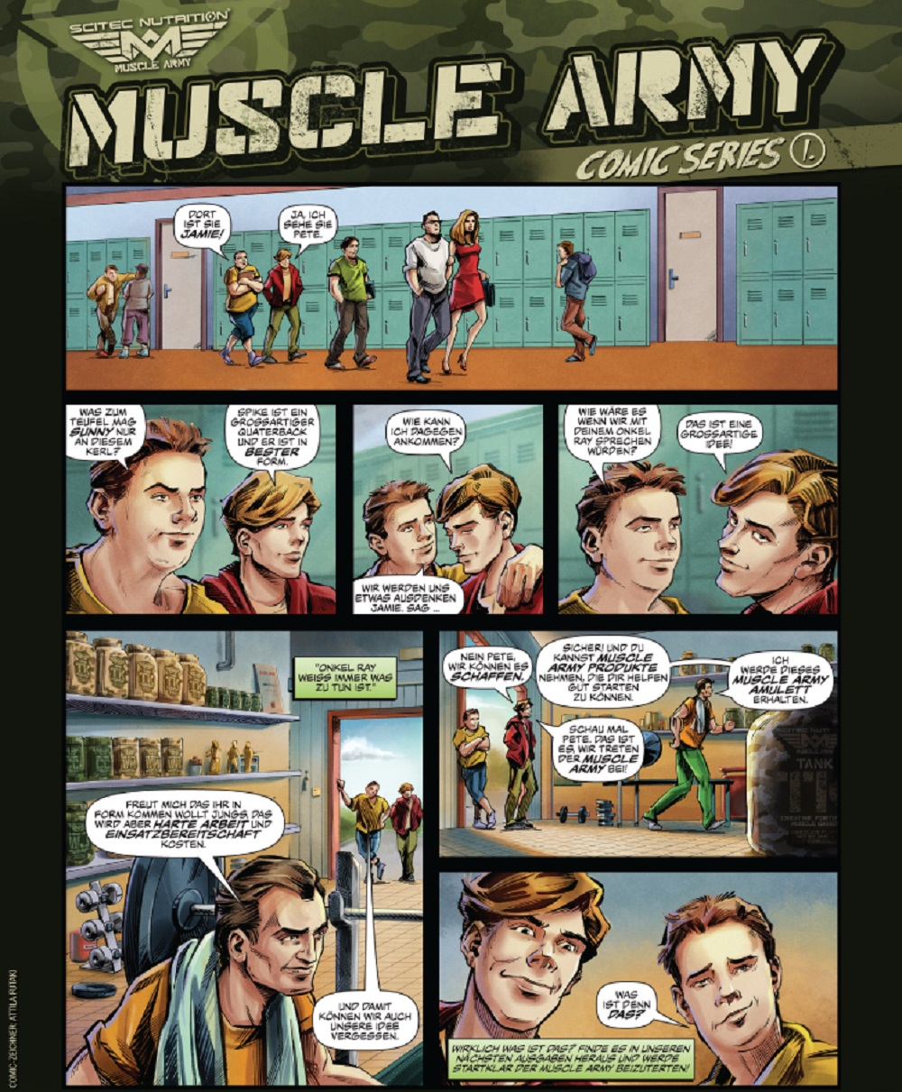 Scitec Nutrition Comic bzw Muscle Army Comic Series