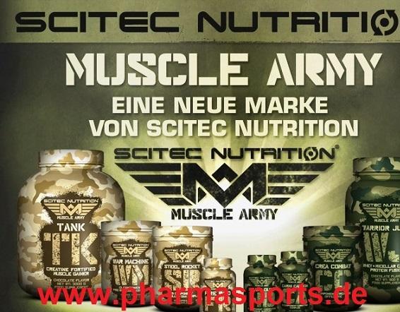 MUSCLE ARMY eine neue Marke von Scitec Nutrition bei Pharmasports