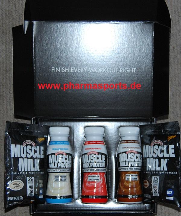Muscle Milk Protein Flüssig und Pulver
