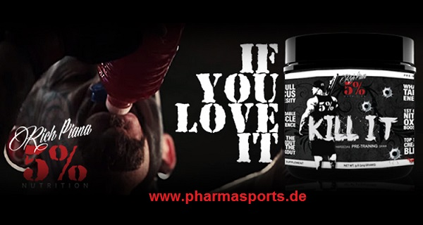 Rich Piana Kill It Trainings Booster im Einsatz