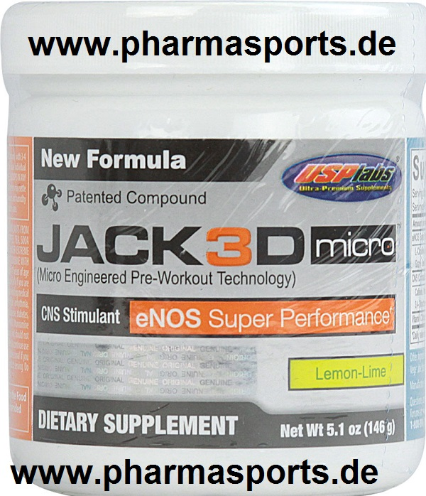 USPLabs - Jack3D Micro Bodybuilding Supplement bei Pharmasports