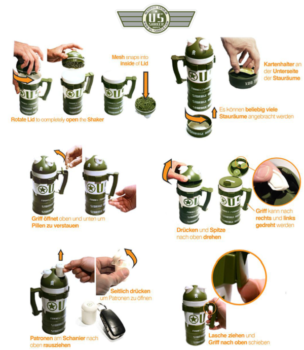 Ultimate Shaker Protein Eiweiss US SHAKER - Ultimate System Shaker im Pharmasports Store
