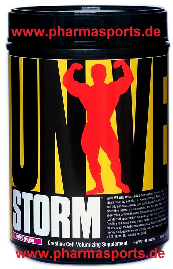 Universal Storm das Creatin Produkt 4 verschiedene Creatin Formen