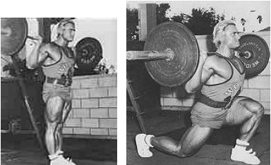Bodybuilding Fitness Trainings Übung Beine Ausfallschritte