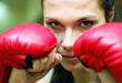 Blickrichtung beim Boxkampf