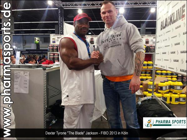 Mr. Olympia Sieger von 2008 - Dexter Jackson auf der FIBO 2013 in Köln, Germany