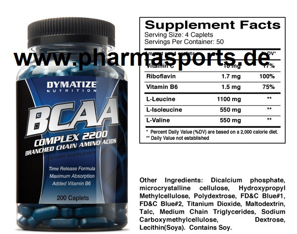 DYMATIZE BCAA Complex BCAA Kapseln