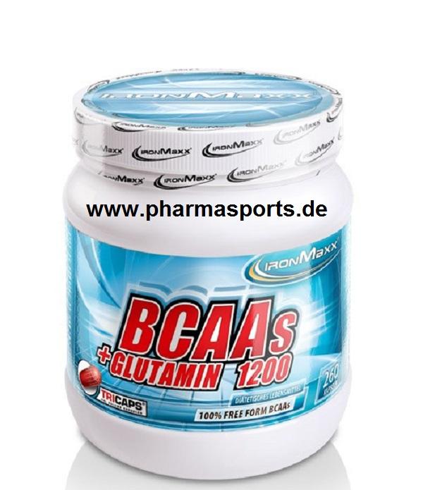 Ironmaxx BCAAs + Glutamin 1200 zum Tiefstpreis bei Pharmasports