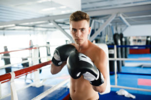 Kampfstellung beim Boxen