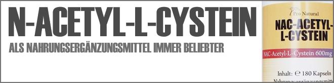 N-Acetyl-L-Cystein als Nahrungsergänzungsmittel immer beliebter