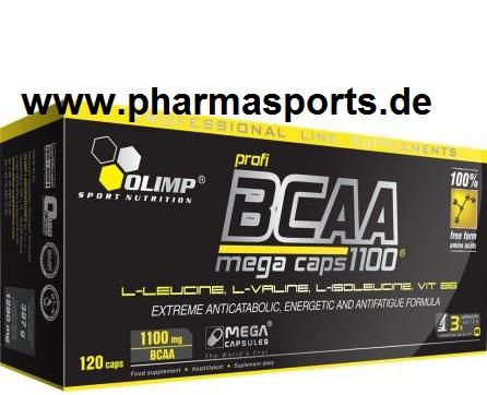 Als Bonus OLIMP Profi BCAA Mega Caps kostenlos bei Pharmasports.