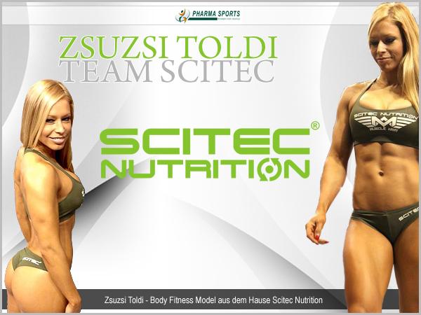Fitness Model Zsuzsi Toldi - Team Scitec - Pharmasports Infos