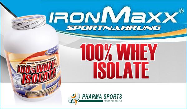 IronMaxx 100% Whey Isolate zum Muskelaufbau
