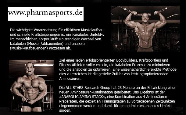 All-Stars Anabolic Amino Stack bei Pharmasports