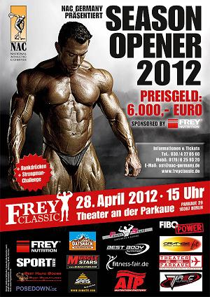 Frey Classic 2012 Bodybuilding - Bankdrücken - Strongman Ergebnisse