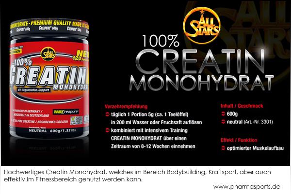 All Stars 100% Creatin Monohydrat - und Ihre Muskeln wachsen!