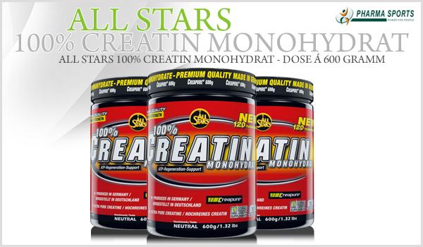 All Stars 100% Creatin Monohydrat - Dose á 600 Gramm
