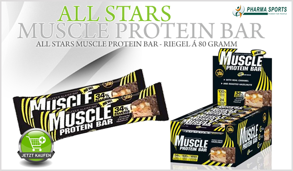 NEU bei Pharmasports - Der All Stars Muscle Protein Bar