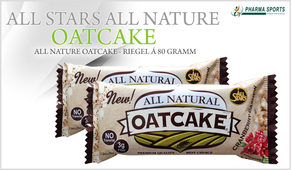 All Stars All Nature Oatcake- Riegel á 80 Gramm