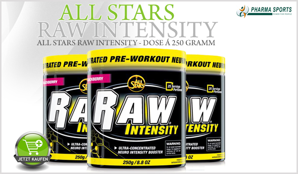 All Stars Raw Intensity nun auch bei Pharmasports