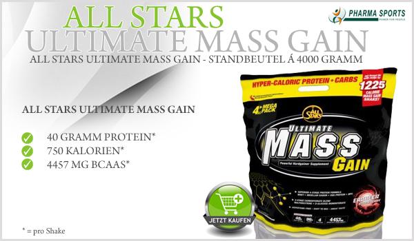 All Stars bringt mit All Stars Ultimate Mass Gain einen neuen Weight Gainer auf den Markt