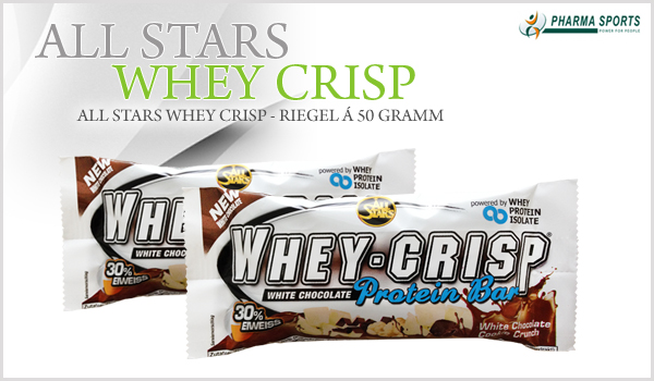 All Stars Whey Crisp - Riegel á 50 Gramm