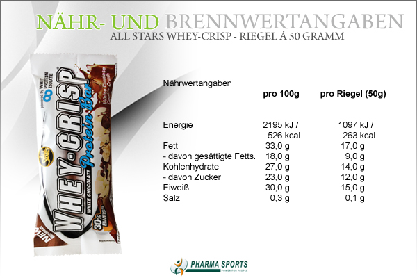 All Stars Whey-Crisp Informationen