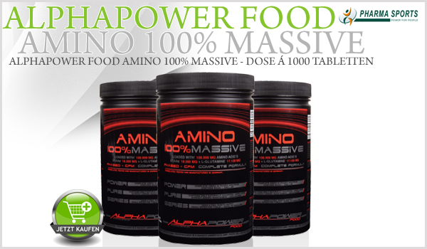 Neu im Sortiment - Alphapower Food Amino 100% Massive