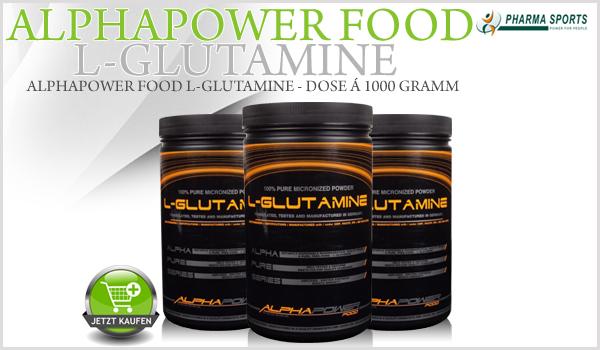 Alphapower Food 100% L-Glutamine - Dose á 1000 Gramm