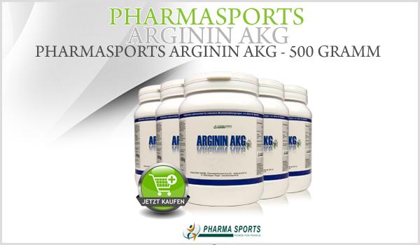 Pharmasports Arginin AKG - 500 Gramm Dose