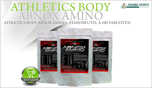 NEU im Online-Shop - Athletics Body Abnox Amino!
