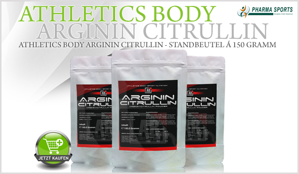 Athletics Body Arginin Citrullin - Standbeutel á 150 Gramm