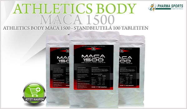 Athletics Body Maca 1500 als nächstes Maca-Supplement bei Pharmasports