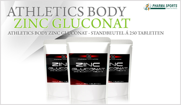 Athletics Body Zinc Gluconat neu bei Pharmasports!