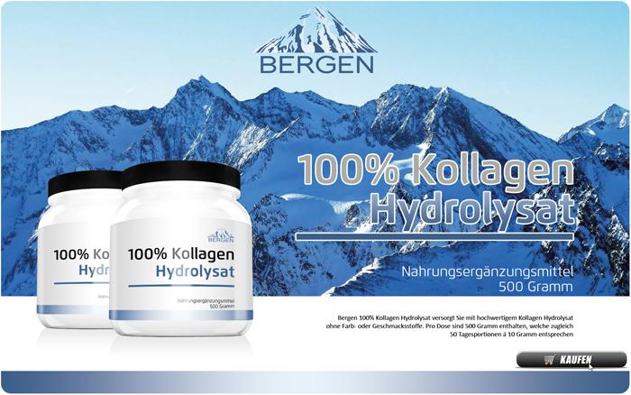 Bergen 100% Kollagen Hydrolysat - 100% reines Rinder-Kollagen