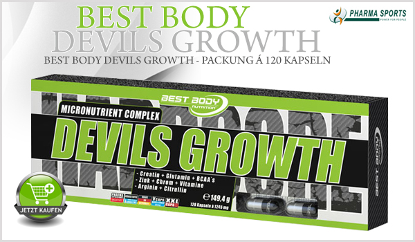 Best Body Devils Growth - Packung á 120 Kapseln