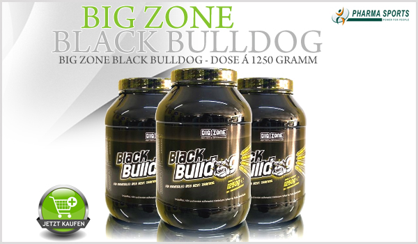 Big Zone Black Bulldog bei Pharmasports - Dose á 1250 Gramm