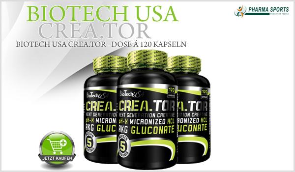 BioTech USA Crea.TOR das nächste neue Supplement bei Pharmasports