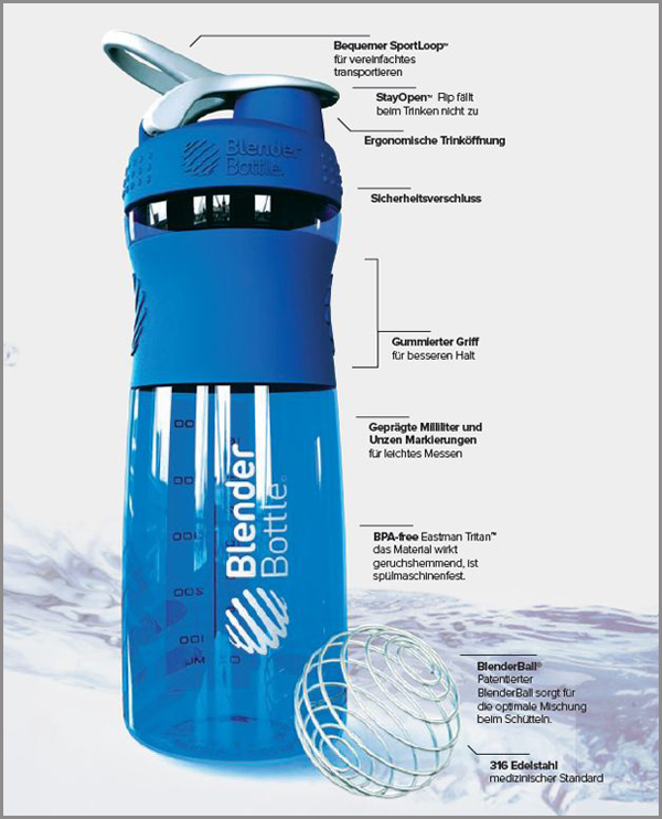 Blender Bottle Informationen bei Pharmasports