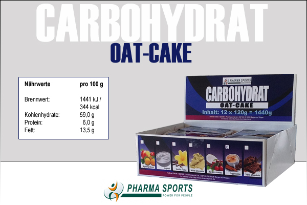 Carbohydrate OAT Cake von Pharmasports