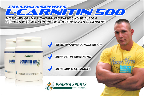 Pharmasports L-Carnitin 500 zur gezielten Fettreduktion