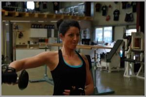 Katharina Blömer bei Training
