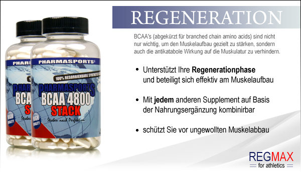 Pharmasports BCAA Stack 4800 - Regeneration, die du benötigst!