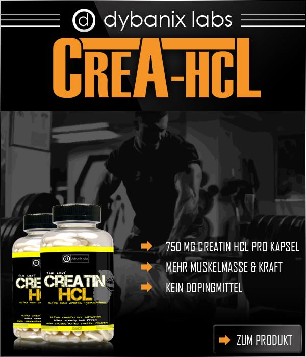 Dybanix Creatin HCL für mehr Kraft und Muskelmasse