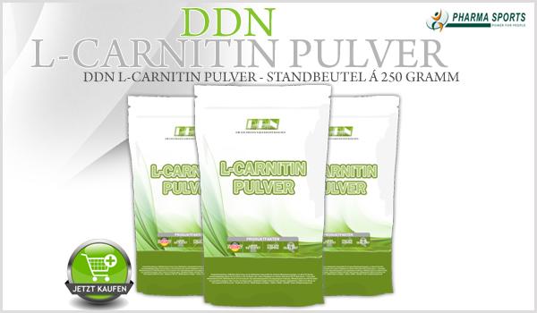 DDN L-Carnitin Pulver auch ab sofort bei Pharmasports