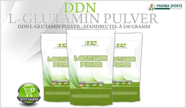 DDN L-Glutamin Pulver im 250 Gramm Standbeutel neu im Sortiment